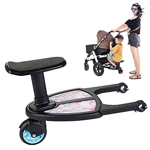 LISI Kiddy Boards für Kinderwagen Zwilling Buggys Zubehör mit Sitz Abnehmbar bis 25 kg Mitfahrbrett Universal Passend,A