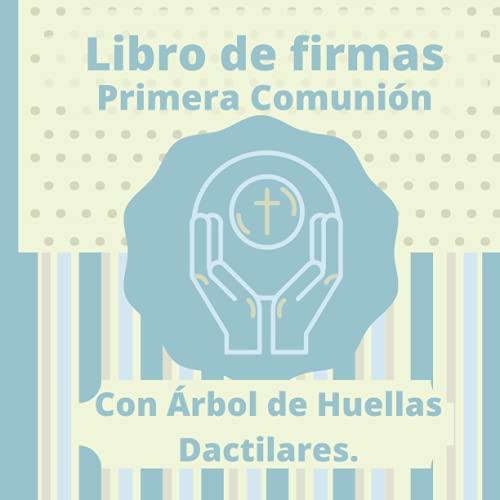 Libro de Firmas, Primera Comunión: Con Árbol de Huellas Dactilares.