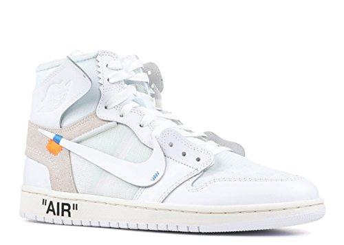 Jordan Air 1 X Off NRG, Zapatillas de Deporte para Niños, Multicolor (White/White 100), 37.5 EU