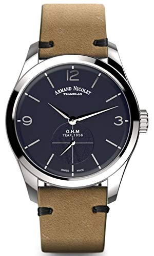 Reloj armand nicolet lb6 a134aaa-bu-pk2140ca mecánico manual orologio Uomo...