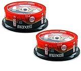 Maxell - CD-R audio digitali XL-II, vergine, 80 minuti, 50 dischi