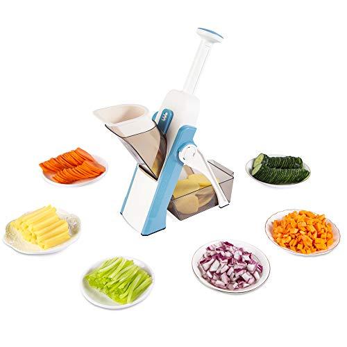 ONCE FOR ALL Mandolina Cortador de verduras de espesor ajustable para patatas y cebolla picadora de frutas