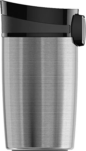 SIGG Miracle Brushed Thermobecher (0.27 L), schadstofffreier und isolierter Kaffeebecher, auslaufsicherer Coffee to go Becher aus Edelstahl