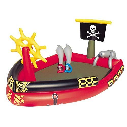 WXJYP Schwimmbad, Piratenschiff-Planschbecken, Pools für Kinder, aufblasbare Pools, unabhängige Inflationshäfen, Sommerwasserspaß für Kinder