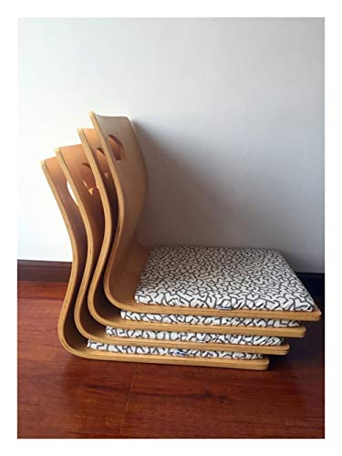 AntiGnor (4pcs/lot) Japanese Tatami Zaisu Chair For Living Room Furniture Natural Color Fan Shape Kotatsu Table Chair Tatami Legless Zaisu