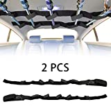 E-More Support de Canne à Pêche Véhicule Supports Canne Support de Canne à pêche 2 pièces avec Support de Canne à pêche à Velcro réglable pour Sangle de Ceinture de Support de Tige de Camion