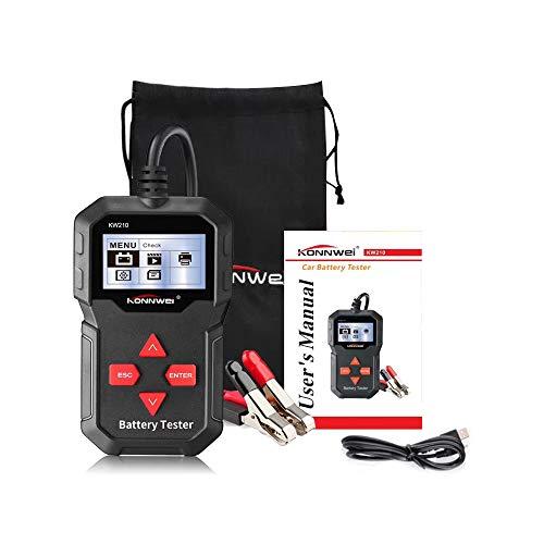 KONNWEI KW 210 Auto Batterietester Digital 12V Belastungstest und Analysator für Batterielebensdauer, Spannung, Widerstand und Deep Cycle Batterie