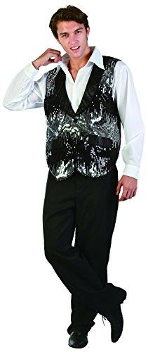Rire et Confetti Rer y confeti - Fibfla012 - disfraz para adultos - Charleston Bailarn Plata Jacket - Hombres - Tamao L