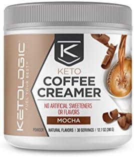 KetoLogic MCT Oil Keto Coffee Creamer (12.7oz/30 Servings, Mocha)
