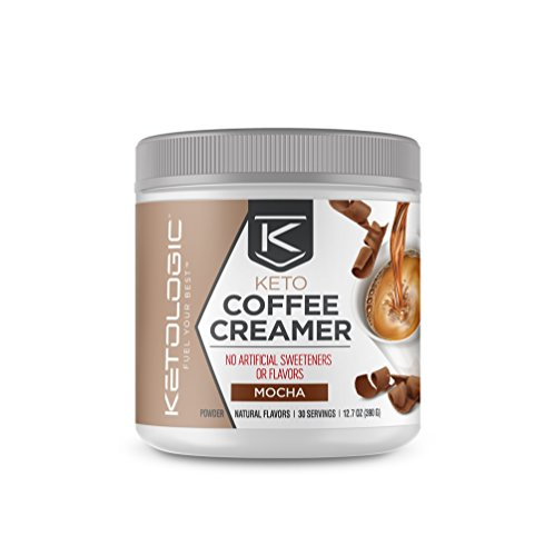 KetoLogic MCT Oil Powder: Keto Coffee Creamer for Sustained Energy and Appetite Control – Low-Carb, Paleo-Friendly, Ketogenic Supplement – Mocha – 30 Servings