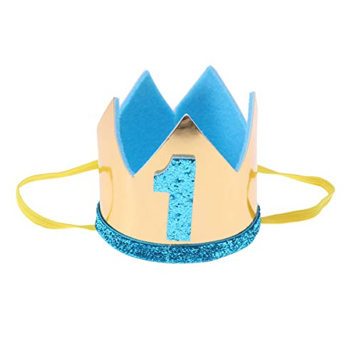 Toyvian erster geburtstag krone ein geburtstag krone 1. geburtstag krone baby prinzessin tiara krone ein geburtstag hut für kinder nowborns himmelblau