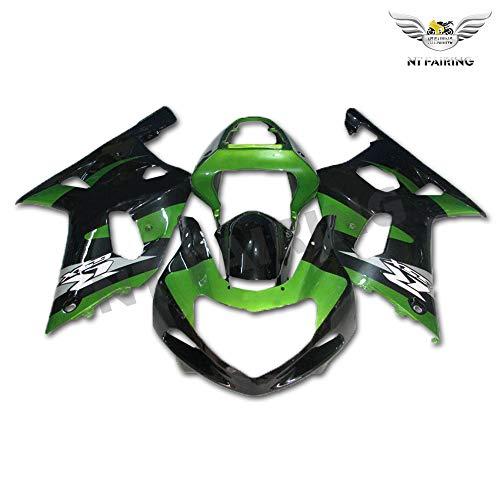Fairing Green Black Fit for Suzuki 2001 2002 2003 GSXR 600/750 Injection Mold ABS Plastics Bodywork New Aftermarket Bodyframe Kit Set 01 02 03 GSX-R 600 750 a72