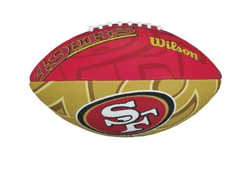 Wilson Unisex-Youth NFL JR TEAM LOGO FB SF American Football, JUNIOR