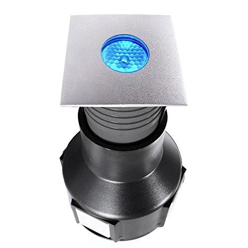 Sol LED encastrable Easy Square II Spot extérieur RVB, 24 V, 2 W, acier, 20 °, IP67 Classe d'efficacité énergétique : A