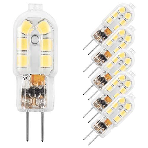 AMAZING POWER G4 LED Bulb, 12V JC G4 Bi Pin Bulb, G4 20W Halogen Bulb Replacement, Daylight White 6000K, 5-Pack