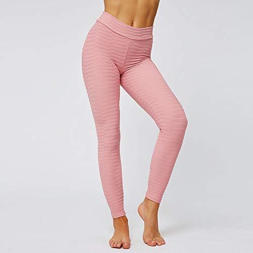 dihui Mallas Pantalones Deportivos Leggins,Push Up Gym Ejercicio Sexy Yoga Pantalones Cintura Alta Running Athletic Trousers-Pink_S