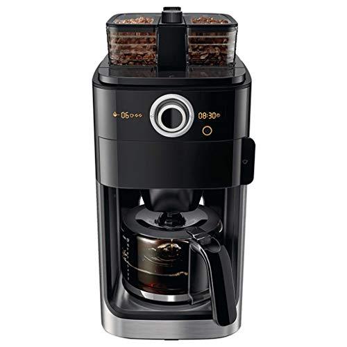 Review HEYU-Coffee machine Vintage Italian automatic espresso machine, grinding and brewing coffee, coffee machine home, (1200ml) stainless steel, 110V~240V, power 1000W