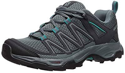 Salomon Women's Pathfinder Hiking Shoes, Stormy Weather/Phantom/Tropical Green, 8 B US