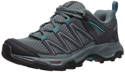 Salomon Women's Pathfinder Hiking Shoes, Stormy Weather/Phantom/Tropical Green, 8.5 B US