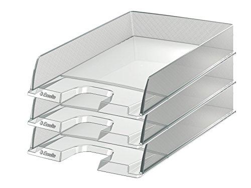 Esselte Europost - Lot de 10 Corbeilles à Courrier Transparent Lisse