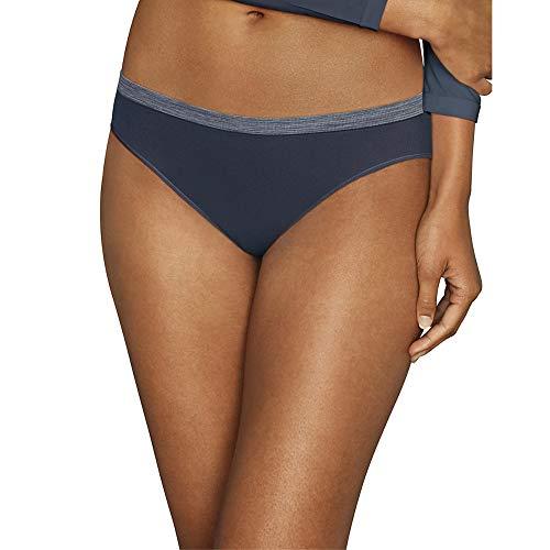 Hanes Women's Comfort Flex Fit Seamless Bikini Underwear, 6-Pack, Assorted, Medium