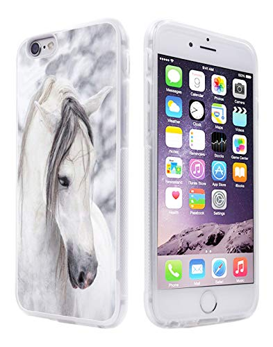 6S Case Horse,Gifun Anti-Slide Soft TPU Protective Case Cover Compatible with iPhone 6S/6 4.7' - Beautiful Mr Horse