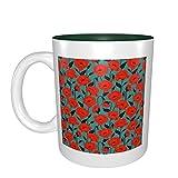 Flor de amapola roja mejor idea regalo de cumpleaños para tazas de porcelana