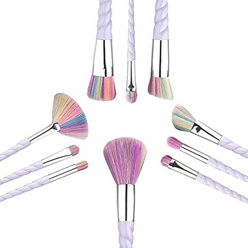 Terilizi Professionnel 10 Pcs Blanc Poignée Maquillage Brosses Ensemble Fondation Mélange Blush Visage Ombrage Cosmétique Brosse Maquillage Kit