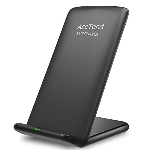 Wireless Charger,ACETEND Kabellos Laden für Samsung S9/S9 Plus/S8/S8 Plus,Note 8, S7/S7 Edge,Qi Ladegerät für Iphone X,Iphone 8/8 Plus und Alle Qi Geräte