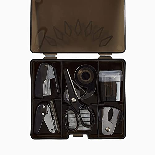 "Yoobi x Marvel Black Panther Mini Supply Kit Flat Box | Stapler, Staples, Staple Remover, Hole Punch, Tape Dispenser, Tape, and More | FSC Certified Packaging | 1.09"" x 4.2"" x 3.7"""