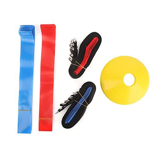 Soft 10 Player Football Site Sign Plate Bolsa de Arena Etiqueta de cinturón de fútbol Kit de Bandera de Cintura PVC