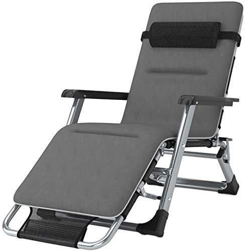 HKX Silla reclinable para Exteriores, butaca, sillón Acolchado Individual, Mecedora para jardín al Aire Libre, Silla Relajante, con Almohada (Color: con Cojines)