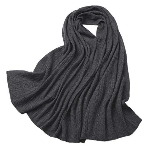 WCZ Winter Schal für Frauen Wraps Mode weichen Tuch Damen-Verpackungs-Schal-Schal-Dame-Schal Männer Schal Paar Kaschmir-Schal Einfacher Knitting Beech Schal weichen warmen Lätzchen Herbst-Winter-Dame