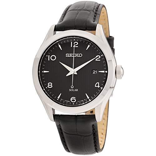 seiko black dial dress watch - 7