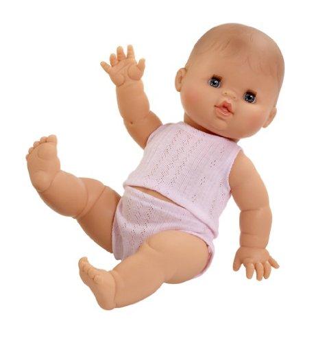 Paola Reina - Gordi, muñeca bebé Europea con Pijama Rosa, 34 cm (04000)