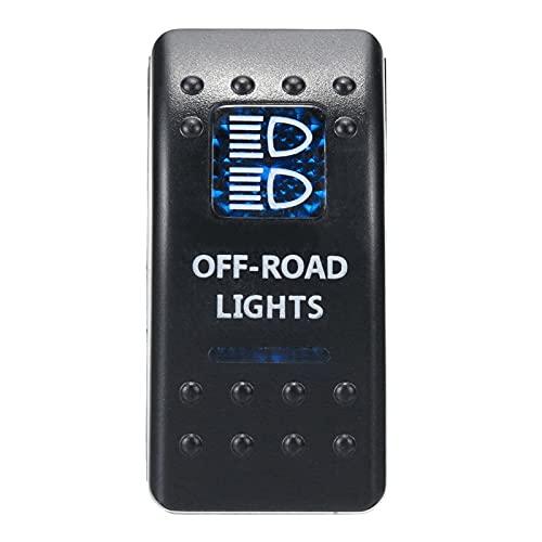 juqingshanghang1 Accesorios de RV 1 UNIDS 12V 24V Barco DE Coches Caravan MOQUEZA Cambia el Interruptor de Rocker Impermeable Dual Barra de luz LED Azul 4x4 para Carpa Coche RV (Color : Red)