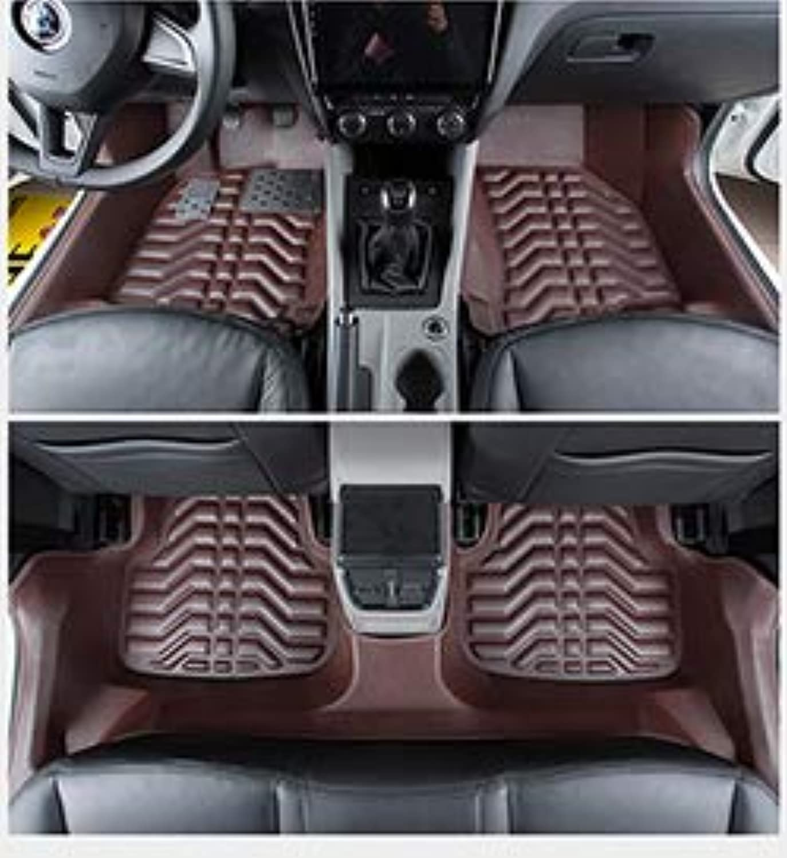 Fiber Leather car Floor mat for Skoda Octavia 20052019 2018 2017 2016 2015 2014 2013 2012 2011 2010 2009 2008 2007  (color Name  Coffee, Size  20132019 a7)
