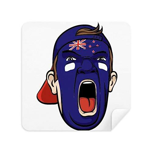 DIYthinker Gesichtsverfassung Neuseeland Schreien Mütze Brille Reinigungstuch Phone Screen Cleaner Suede Fabric 2Pcs