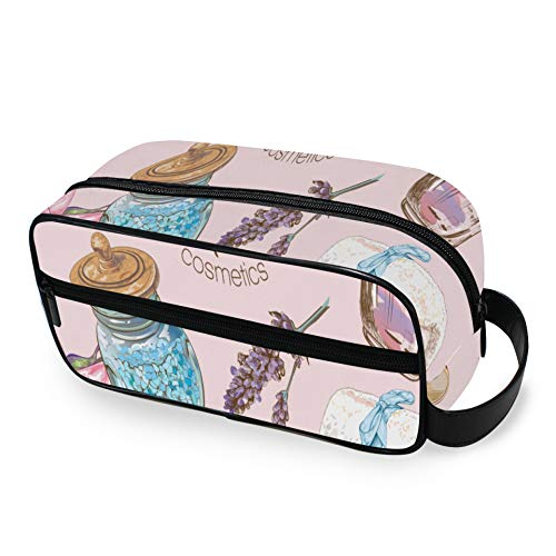 Cartoon Cute Skin Care Products Beauty Makeup Organizer Travel with Zippers Large Toiletry Bag Carry-on Travel Accessories Travel Toiletries Bags for Men and Women Travel Bag for Toilet