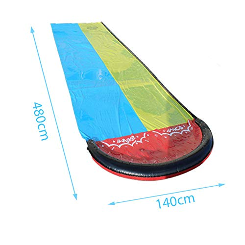 Inflatable Water Slip and Slide for Kids Adults, Great for Outdoor and Backyard Garden Lawn, Blow Up Water Slides with Splash Sprinkler and Inflatable Crash Pad (189inchx55inch)