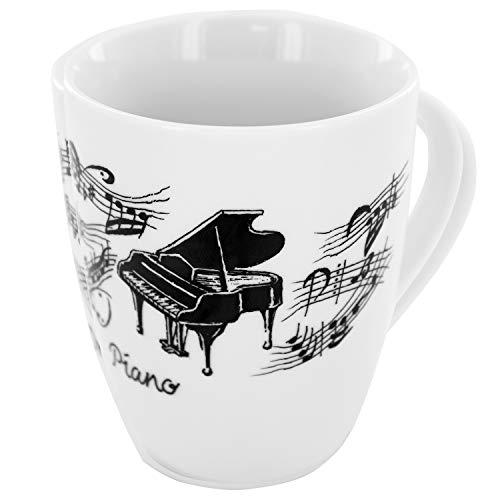 Tasse Flügel, Geschenk für Pianisten