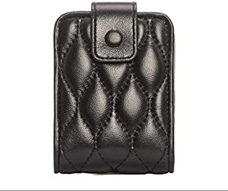 AINIYF Lipstick Case with Mirror Makeup Bag Travel Makeup Case with Mirror Gifts Leather Lipstick Case Holder Organizer Bag (Color : Black)