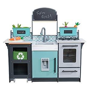 KidKraft - Garden Gourmet Wood Kitchen - 53442 - accesorios incluidos - sonido y luz - montaje EZkraft