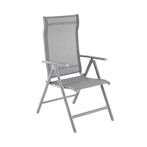 SONGMICS Gartenstühle, 4er Set, Klappstühle, Outdoor-Stühle mit robustem Aluminiumgestell, Rückenlehne 8-stufig…