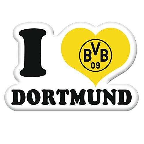 Borussia Dortmund Aufkleber / Sticker / Autoaufkleber I Love BVB 09 - plus gratis Aufkleber forever Dortmund