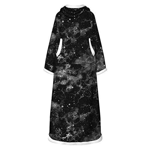 Blusa de manga larga para mujer, de gran tamaño, lavable con mangas, manta con bolsillos, talla única, para mujer, para regalos de Pascua, Día de San Patricio, 165 x 127 x 68 cm