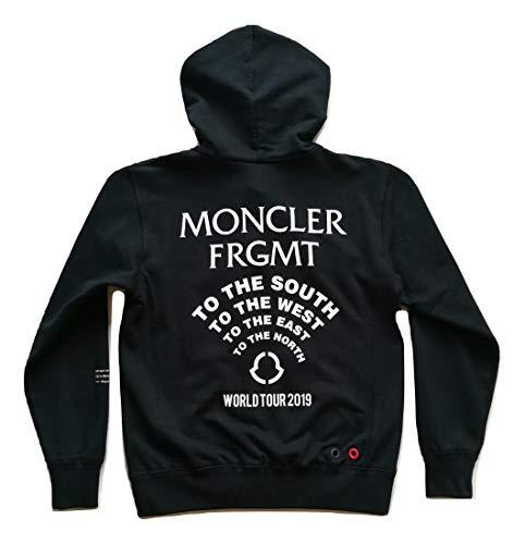Moncler Fragment 8403350 - Sudadera para hombre de algodón con cremallera completa con capucha, talla S, color negro