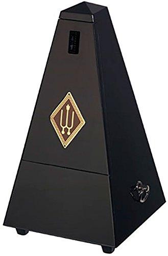 Wittner Taktell Pyramidenform Metronom Holzgehäuse mit Glocke schwarz hochglanz
