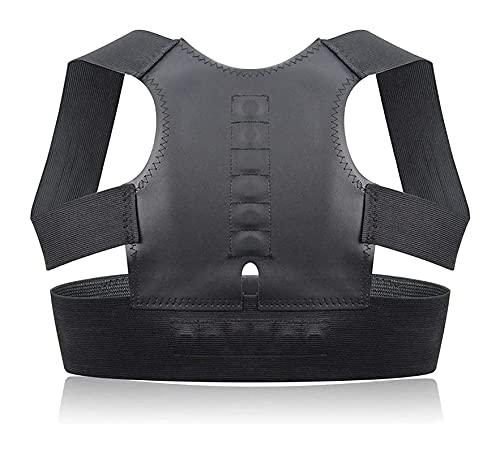 IJNBHU Terapia Ortesis Corset Espalda Corrector de Postura Postura magnética Deportiva Parte Superior de la Espalda Jorobado Ajustable para Hombres, Mujeres y Adolescentes (tamaño: XX-Large)