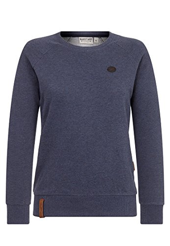 Naketano Female Sweatshirt Fick und Fotzi Dark Night Melange, XS
